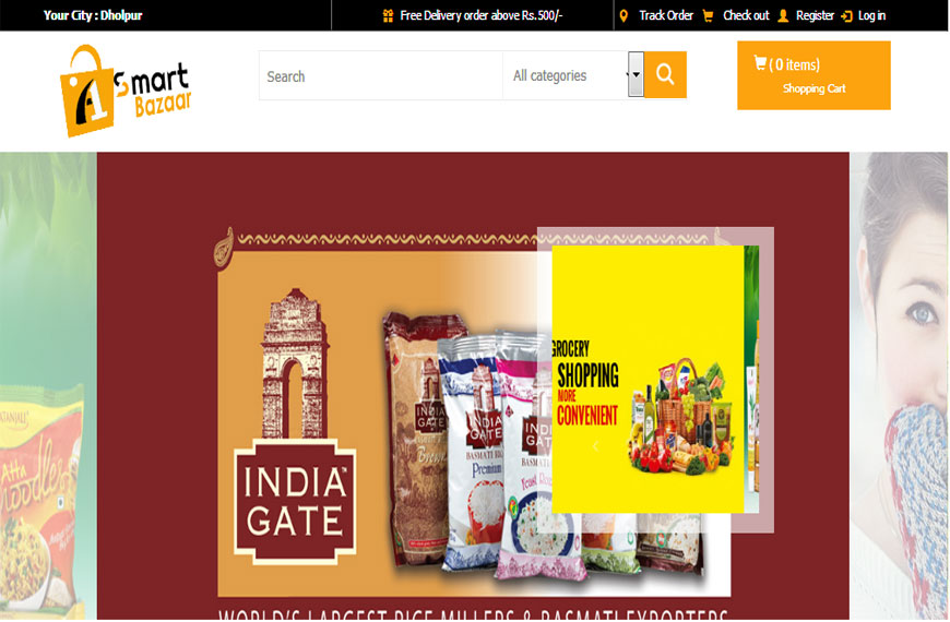 online grocery website design company in gwalior