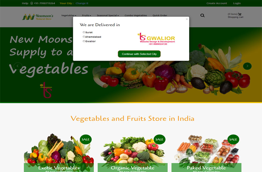 fruits and vegetable shopping website in gwalior